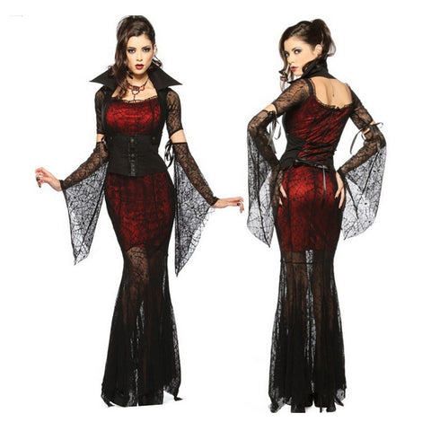 Transparent Lace Sexy Dress Wicca Witch Vampire