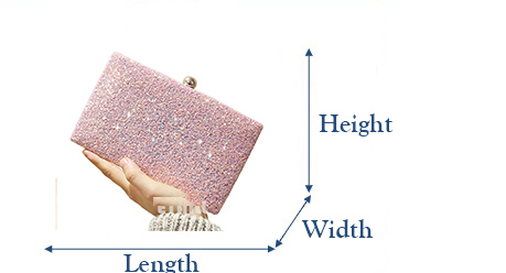 Simple Glitter Sparkling Full Sequins Evening Bag Wedding Bride Shoulder Bags Party Day Clutches Purses Chain Handbags
