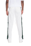 SNAP BUTTON TRACK PANTS- WHITE