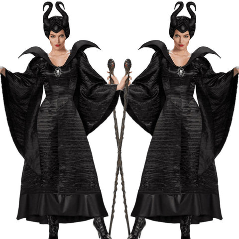 Woman Costume Black Witch Queen