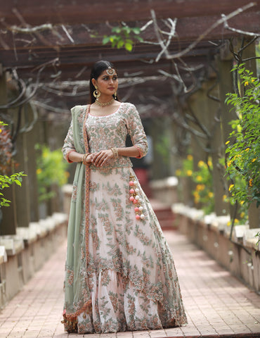handworked Lehenga Set imported fabric, shimmer georgette