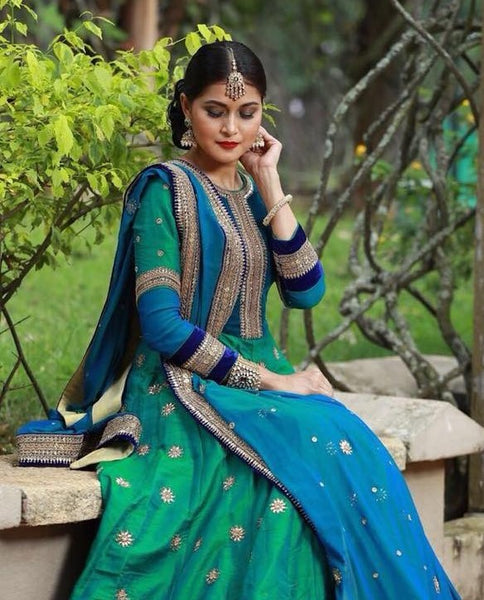 Anarkali Gown with Pannel cut anarkali gown.
