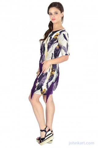 Abstract feather finch dress