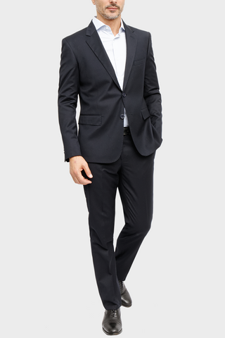 Navy Twill Solid Suit