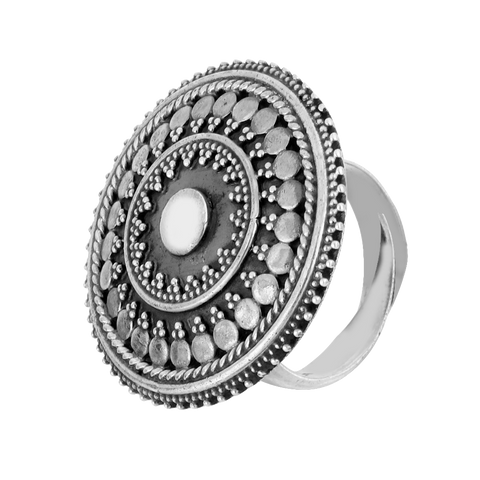 Tribal Silver Ring  92.5 Silver