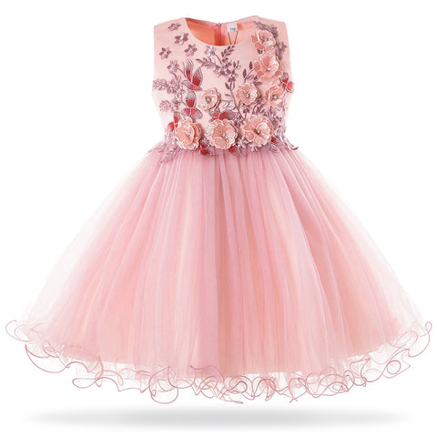 New Girls Mesh Princess Dress Wedding Birthday Party Dresses For Girl Kids Formal Evening Ball Gown Frock 3-10Year
