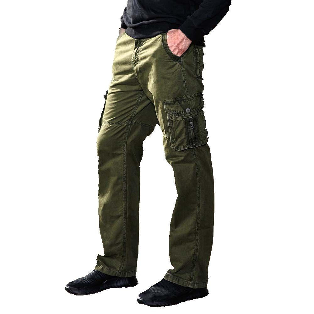 Mens Cotton Military  Army Combat Cargo Work Summer Pocket Casual Trouser Pants
