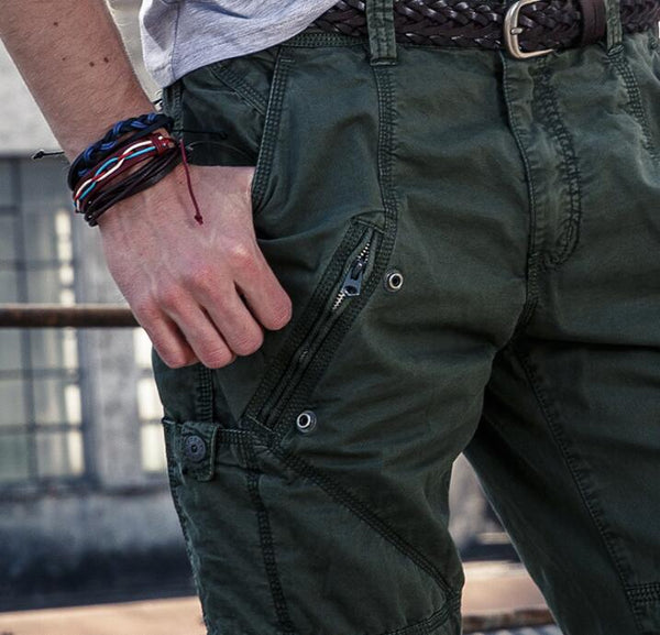 Man Military Army Cargo Pants Plus Size Multi-pocket Overalls Casual Baggy Trousers Men loose cotton