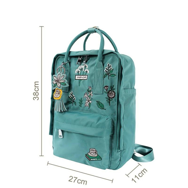 "Women Embroidery Backpacks 14"" Laptop Backpack High Quality Travel Backpack School Bags for Teenage Girl Backpack"