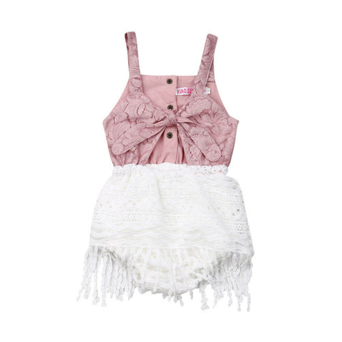 Baby Girls Rompers Summer Infant Newborn Girl Clothes Lace Tassel Sleeveless Jumpsuit Playsuit Baby Costumes