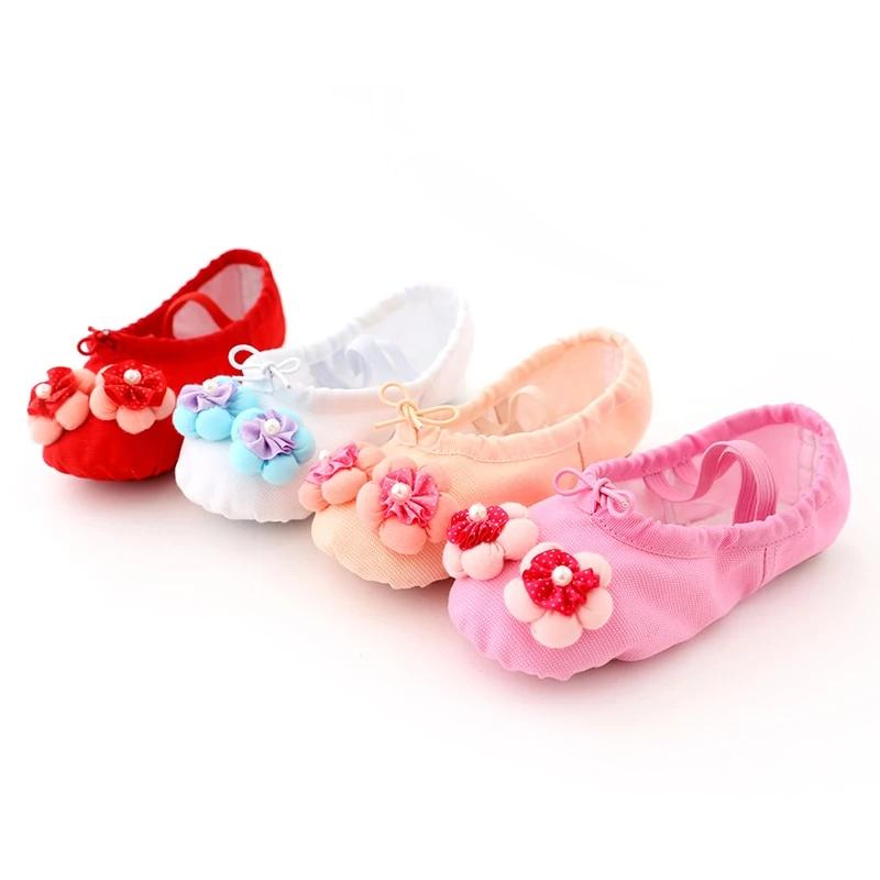 Soft Canvas Ballet Shoes Danse Shoes for Girls Kids Children High Quality Dance Slipper Dance Shoes Ballerina Shoes