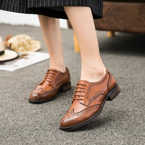 Autumn Women Oxford Shoes Vintage Round Toe Women Flats Ankle Boots bullock England Style Ladies Shoes