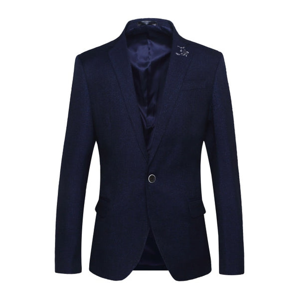 Autumn Blazer Men Business Casual Men's Suit Jacket Single Button Wedding Party Tuxedo Suitable Original Male Suits Coat