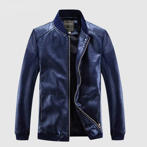 Spring Autumn Coats Men Leather Jackets Men  Fashion Faux Outerwear Pilot Biker Motorcycle Male Business Jacket