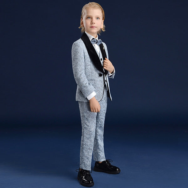 Boys Suits For Weddings Kids Prom Suits Gray Wedding Suits For Boys Tuxedo Children Clothing Set Boy Formal Costume Garcon