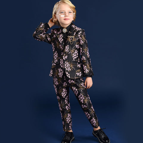 Boys Suit Big Children'S Baby Piano Performance Dress Boy Male New Spring Autumn Boys Suits For Weddings Terno Infantil
