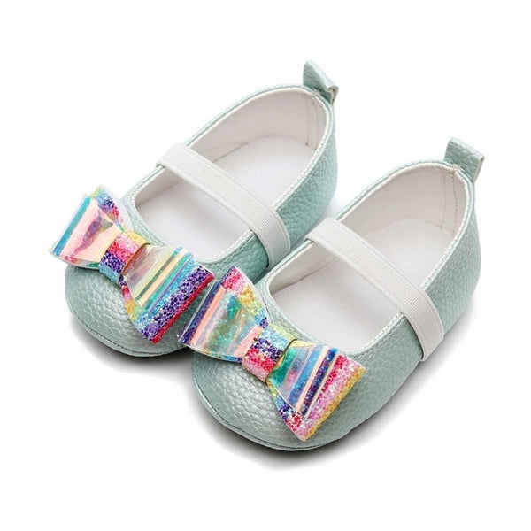 New newborn Toddler Baby Girls Flower Unicorn Shoes Leather Shoes Soft Sole Crib Shoes Spring Autumn First walkers 0-18M