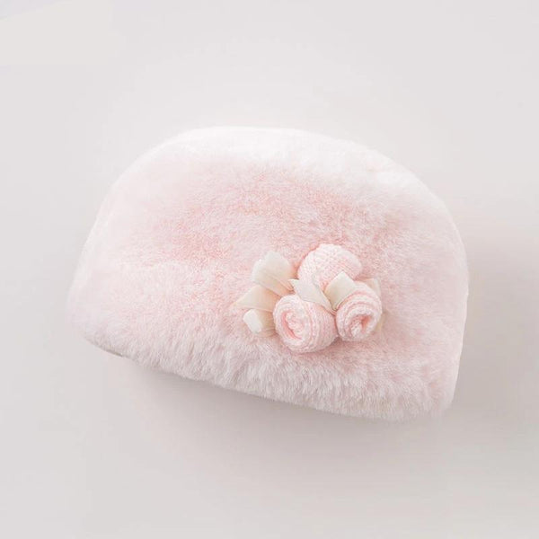 winter children boutique hat baby pink cute hat