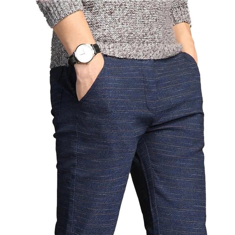 Casual Pants Men High Quality Moletom Elastic Slim Fit Pantalones Hombre Trousers Male Plus Size