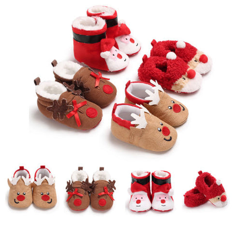 New Christmas Toddler Boot Shoes Newborn Baby Boy Girl Unisex Winter Warm Soft Sole Prewalker Sneaker For 0-18 Months