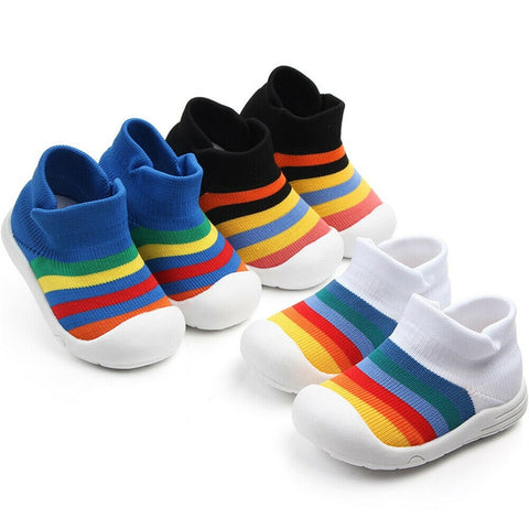 Summer Sneakers Newborn Baby Boys Girls First Walkers Shoes Infant Toddler Soft Sole Anti-slip Baby Shoes Kids Slippers Trainers