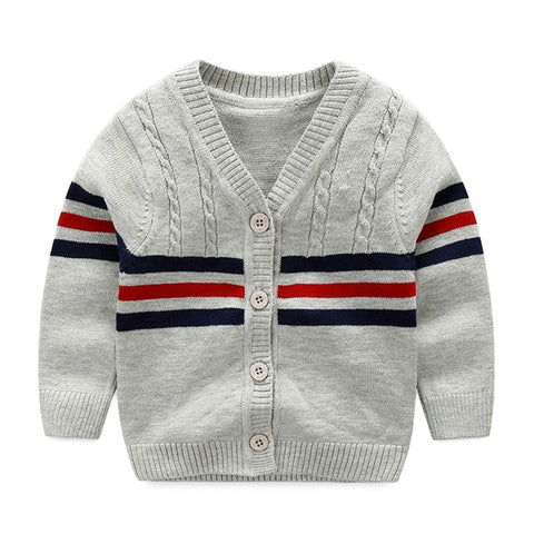 Cotton Sweater Baby Fashion Infant Clothes Button Boys Sweater  Baby Boy Cardigan Sweater Baby Boys Clothing High Quality