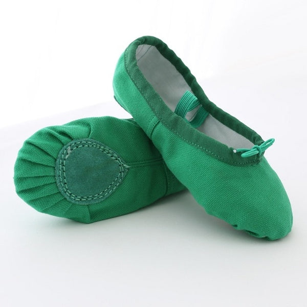 Kids Dance Shoes Soft Canvas Girls Dance Shoes High Quality Dance Slipper Dance Ballet Shoes