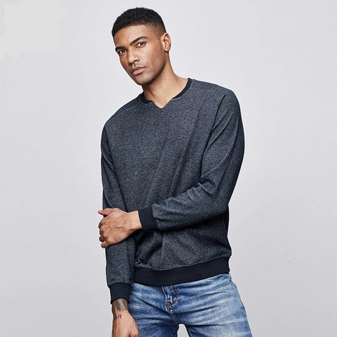Autumn Cotton Patchwork Black Plain Sweatshirts Men Fashions Streetwear Hip Hop Male Brand Clothes Top 4991