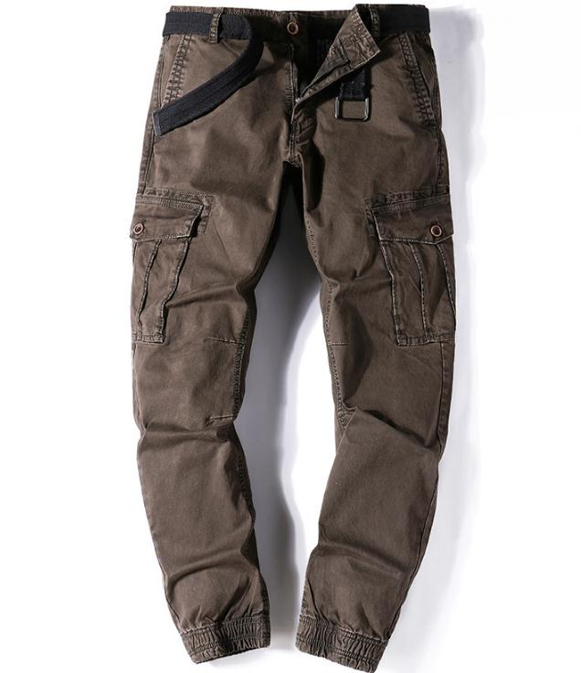 Casual Pants Men's Cargo Pants Big Size Men Baggy Trousers Military Tide Wtaps Convergent Narrow Cut Bottoms