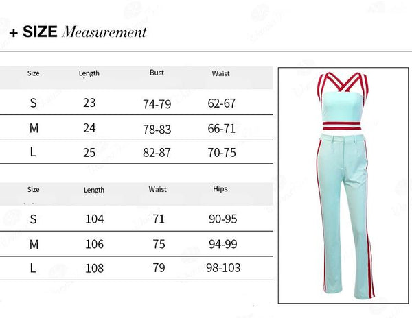 Tracksuits Women Two Piece Set Summer Solid Crop Top and Side Stripe Pants Set Suits Casual Fitness 2 Piece Set Overalls