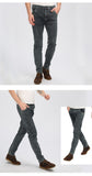 New Stretch Skinny Jeans Men Fashion Casual Gray Slim Jeans for Male Brand Pants