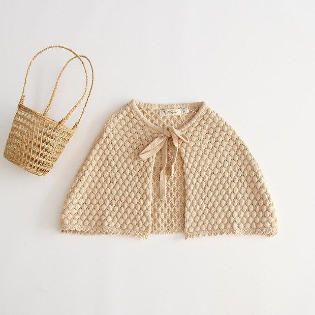 Baby knit cape outside the ride Autumn female baby cute coat baby cloak Baby Girl Sweater Toddler Girl Clothes