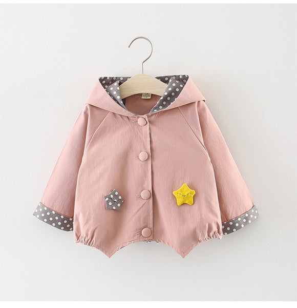 Spring fall infant Baby Girls Clothing Outfit Hoodie Windbreaker Jacket coats for Newborn Baby Girl Clothes tops Loose outerwear