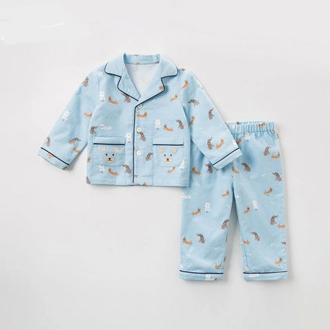 Pajamas set for children autumn  Boys Kids home Clothing Cartoon short Sleeve baby Sleepwear Suit