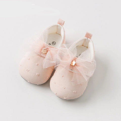 Spring autumn baby girl pink bow leather shoes children brand shoes