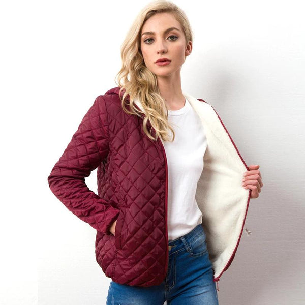 Autumn Winter Warm Women Cotton Jacket Casual Quilted Woman Hooded Parkas Long sleeve High Quality Light Female Loose Tops