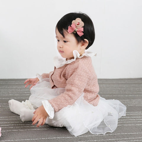 Baby Girls Clothes Sweaters Outerwear Knitted Warm Cardigan Sweater Coat Long Sleeve Autumn Winter Outwear