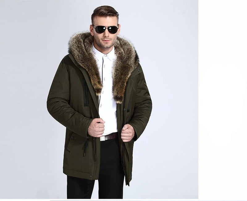City Class Fur Winter Jackets Mens Super Warm Parkas Camel Hairs Filling with Raccoon Hood big fur winter coat thicken parka