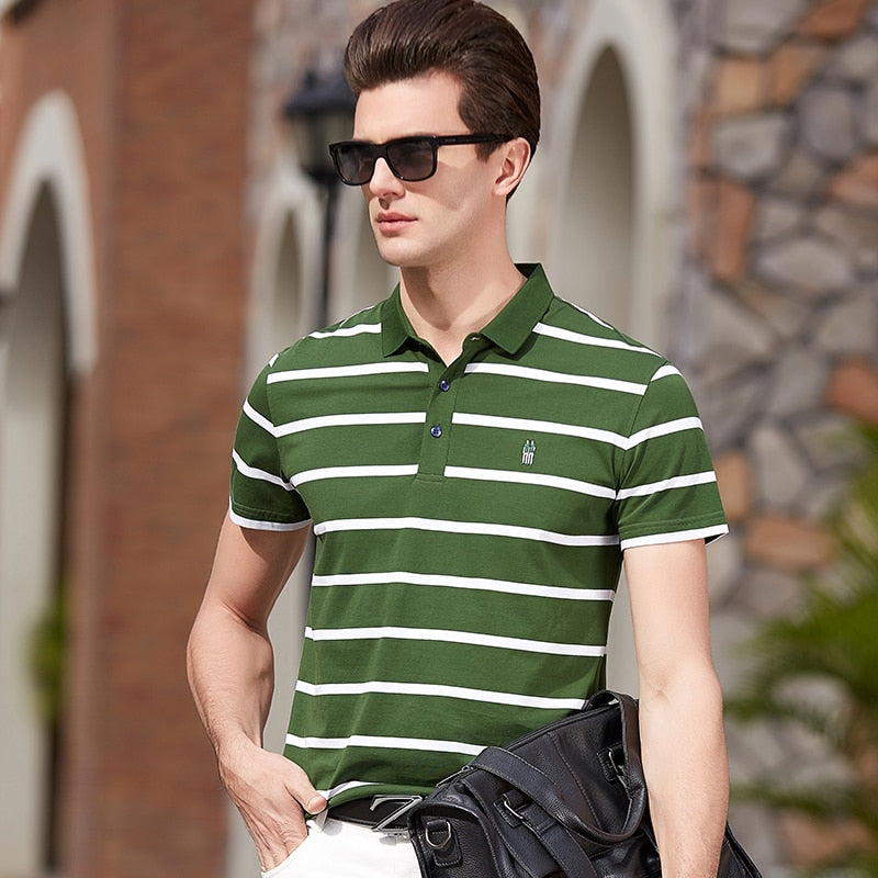 High Quality Tops&Tees Men's Polo shirts Business men brands Polo Shirts 3D embroidery Turn-down collar mens polo shirt