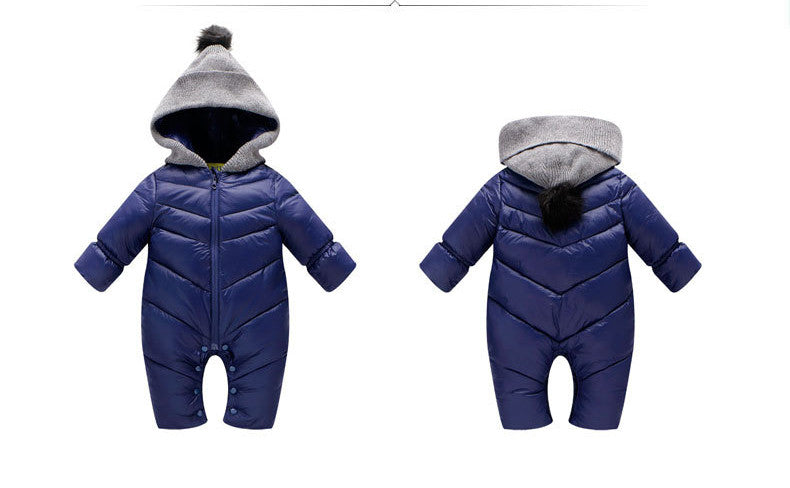 c358f1878 Newborn Baby winter clothes Baby snowsuit cotton down Rompers ...