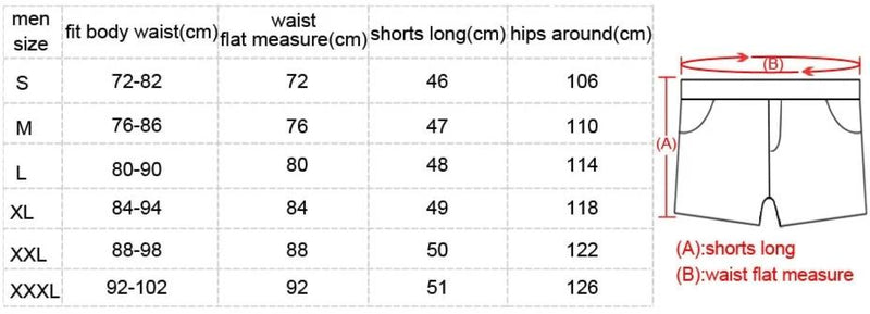 Men Beach Shorts Swimwear Swimsuits Boardshorts Quick Drying Casual Shorts Bottoms Summer Boxer Trunks Shorts New