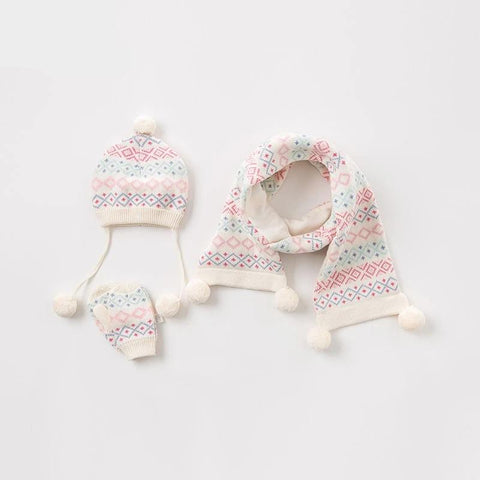 Autumn children boutique hat baby hat infant toddler scarf kids gloves