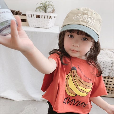 New Girl Bat Sleeve T-shirt For Children In Summer Baby Girl Clothes Boys Short Sleeve T Shirts Girls T Shirt