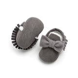 Cute Bow Baby Girls Winter Booties Infant Toddler Shoes Fashion Baby Moccasins First Walkers