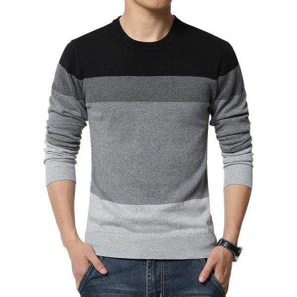 New Autumn Fashion Brand Casual Sweater O-Neck Striped Slim Fit Knitting Mens Sweaters And Pullovers Men Pullover Men M-5XL