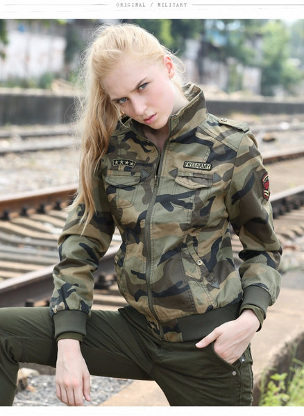 Autumn Military Jackets Women New Arrival Female Camouflage Jacket Fall Thick Jackets For Womens Coat Spring Autumn Outwear