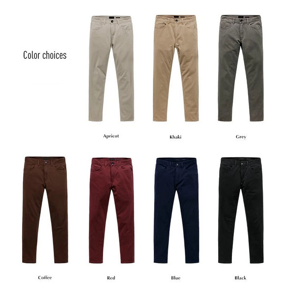 Spring Summer Casual Pants Men Brand Clothing High Quality Work Pants Slim Fit Cotton Chinos Formal Trousers Male