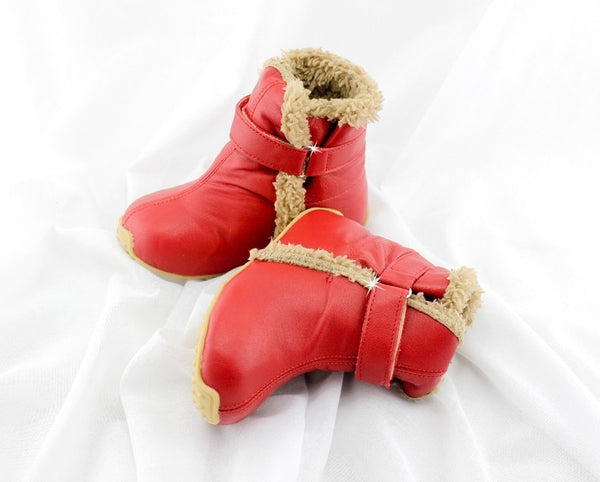Top Quality Genuine Leather Wool Children Shoes For Boys And Girls Kids Autumn Winter Warm Boots Free Shipping