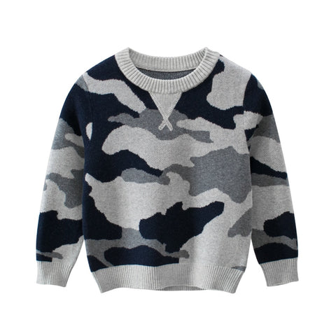 Autumn New Boys Baby Boys Clothes Kids Clothes Children's Sweater For Boy Long Sleeve O- Neck Camouflage Print