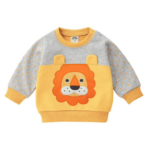 Winter Autumn Baby Boy clothes Long-sleeved Animal Cartoon the lion Sweatshirt Sport Newborn Sweatsuit For Kids Coat